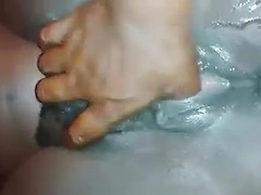 Soaking wet black guy continues to orgasm and drip fluid in fingering video